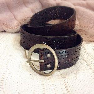 Accessories - Brown Genuine Leather Belt
